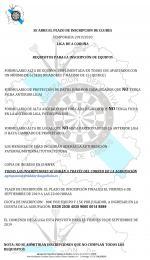 Inscripción Temporada 2019-2020